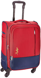 trally skybags romeo polyester 58 cms red softsided suitcase stromw58red