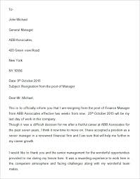 manager resignation letter how to write resignation letter to