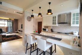 kitchen living space ideas combined kitchen with living room design ideas gosiadesign com
