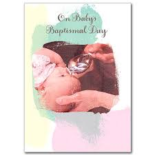 on baby s baptismal day child baptism card