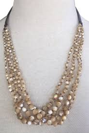 natural necklace pearl images Chan luu mother of pearl new natural multi strand necklace tradesy jpg