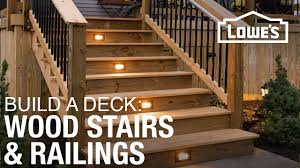 how to build a deck wood stairs u0026 railings 4 of 5 youtube