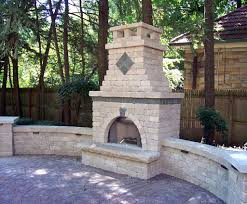 amazing outdoor brick fireplace suzannawinter com