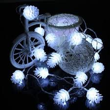 led new years 5m 40 led new year products pine cone led string fairy lights
