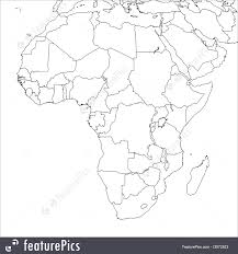 Blank African Map by Signs And Info Blank Africa Map Stock Illustration I2972523 At