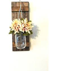 Rustic Sconce Deal Alert Hanging Mason Jar Wall Sconce Flower Vase Candle