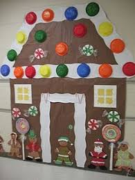 Christmas Decoration For A Classroom by Christmas Holiday Door Decoration For Gingerbread House