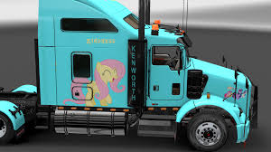 buy kenworth t800 image fanmade ets2 kenworth t800 fluttershy skin 8 png my