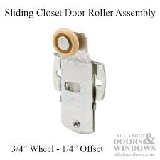 sliding closet door roller assembly with 3 4