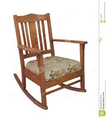 Wooden Rocking Chair Antique Wooden Rocking Chair Isolated Stock Images Image 23158294