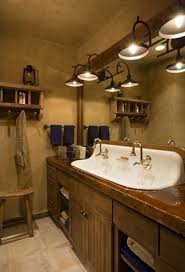 rustic cabin bathroom ideas impressive rustic bathroom lights 131 rustic bathroom wall lights