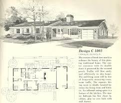 house plans 1 floor vintage 1960s house plans home deco plans