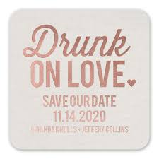 save the date coasters on foil save the date coaster invitations by