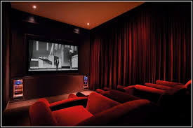 Curtains For Home Ideas Velvet Home Theatre Curtains Design Ideas Within 5
