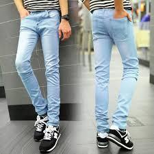 mens light blue jeans skinny light blue 2018 new arrived denim skinny jeans men hight quality