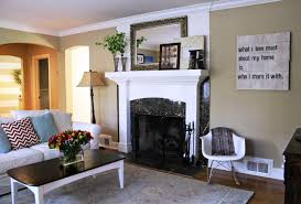 exciting warm living rooms with white fireplace and white leather