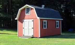 exterior gambrel roof with free gambrel shed plans and 12x16