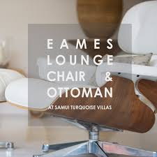 Turquoise Lounge Chair Eames Lounge Chair U0026 Ottoman At Samui Turquoise Villas