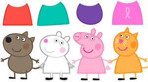 wrong colors peppa pig friends baby learn colors finger