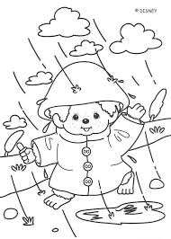 Monchhichi Rainy Day Fun Coloring Pages Hellokids Com Rainy Day Coloring Pages
