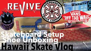 formula 4 spitfire new board setup and vans unboxing revive skateboard setup