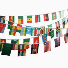 International Bunting Flags Assorted Countries Polyester Bunting Peeks