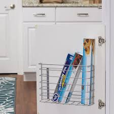 davidson kitchen cabinet door organizer household essentials 1229 1 basket door mount cabinet organizer mounts to solid cabinet doors or walls