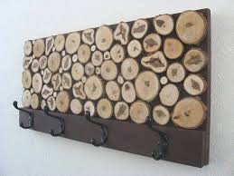 hand crafted rustic wood coat rack by modern rustic art llc