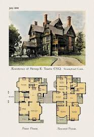Victorian Era House Plans 900 Best Historic Floor Plans Images On Pinterest Vintage Houses