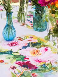 peony watercolor tablecloth linens u0026 kitchen tablecloths