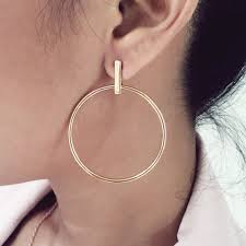gold bar stud earrings bar stud hoop earrings annielka jewelry