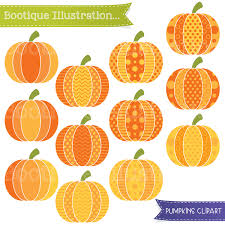 single pumpkin clipart collection