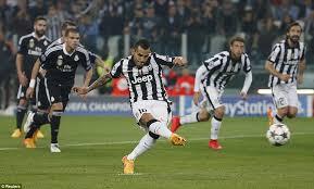 imagenes del real madrid juventus juventus 2 1 real madrid carlos tevez s second half penalty gives