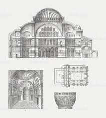 hagia sophia constantinople wood engraving published in 1874 stock
