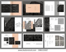 Photography Portfolio Design Photography Portfolio Vector Template Brochures Stock