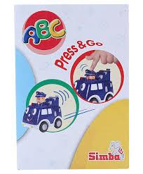 simba abc press and go car toy blue