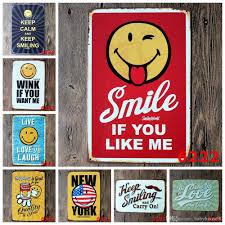 2017 smile expressions metal tin signs creative emoji iron