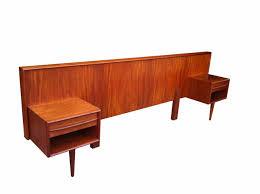 Teak Bedroom Furniture Teak Double Bed Headboard What The Vintage Mid Century Vintage