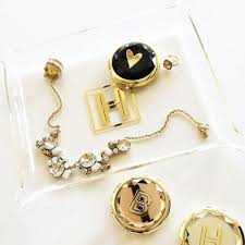 monogram jewelry cheap gold monogram jewelry tray the wedding haus