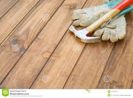 home improvement gloves and hammer background stock image image
