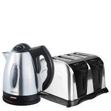 Kettle Toaster Offers Steel Kettle U0026 4 Slice Toaster Set