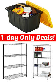 Storage Shelves Home Depot by Home Depot 1 Day Only Sale On Hdx Tote And Garage Storage