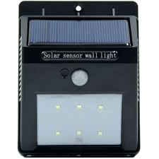 solar motion sensor outdoor light ele 236 kibeland solar motion sensor light 6 led motion activated bri