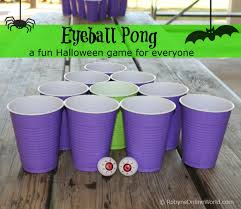 Eyeball Appetizers For Halloween by Halloween Game Eyeball Pong Robyns World