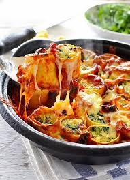 Easy Italian Dinner Party Recipes - baked cheesy spinach pasta rotolo u2013 best traditional family