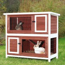 Extra Large Rabbit Cage Trixie 2 Story Rabbit Hutch With Attic Large Hayneedle