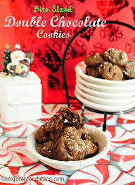 bite sized double chocolate cookies back for seconds