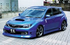 custom subaru hatchback custom subaru sti with charge speed body kit picture number 65441