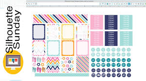 template diy diy planner stickers free template silhouette sunday
