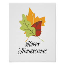 happy thanksgiving posters zazzle co nz